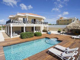 Villa Vista Curacao -First Class Villa mit Meerblick, Palapalounge, Pool & Beach