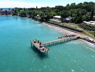 Apartment am See mit Seeblick. Terrasse direkt am Wasser.