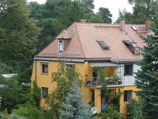 cozy attic flat in Kleinzschachwitz btw. Elberadweg u. Tram