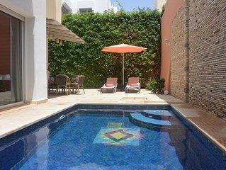 Schone Stadtvilla mit Privatem Pool,Garten,Klimaanlage,WIFI im Zentrum v. Agadir