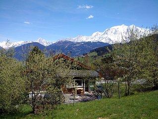 Chalet familial  a Combloux , vue d'exception sur le Mont Blanc  (12 p)