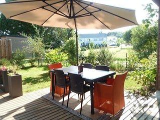 Appartement-maison 75 m2 a 10 mn mer Golfe du Morbihan - Arradon (Rez-de-jardin)