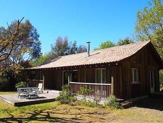 Maison Bois calme et confortable dans la Marina de Talaris - Piscine bois