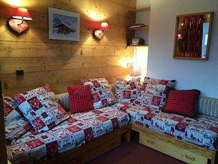 Studio confortable pour 4 pers à Méribel Mottaret, au pied des pistes 3 Vallées