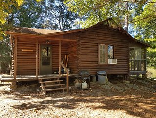 Secluded 1930's Log Cabin on East Texas Private Fishing Lake