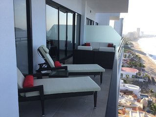 Brand new 10th floor Condo on the beach in Mazatlan