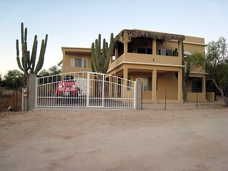 Beautiful private, fenced and gated property overlooking La Ventana Bay.