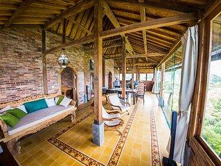 Villa Batu Hill is a traditional style Limasan house.