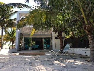 Beautiful Villa on the beach with swimming pool