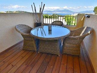 logement avec terrasse  vue sur la baie d'ajaccio