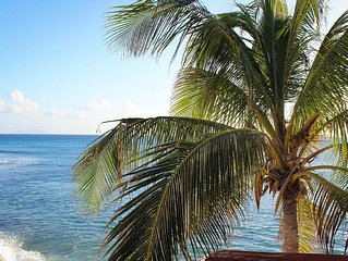 BEAU RIVAGE...comfortable home on Burgeoux Bay beach, walk to Maho or Simpson, St. Maarten