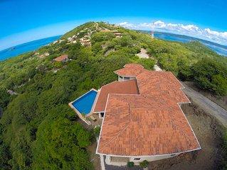 Two Floors of Open Air Terraces 4 Bed Ocean View Home w/pool in Playa Hermosa