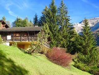 Charming 6 bedroom chalet on the sunny side of Les Diablerets (20 min from Gsaad
