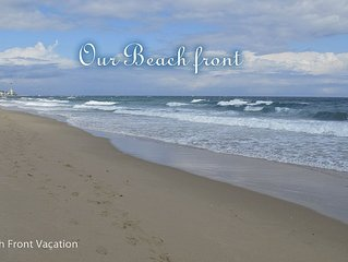 Beach Front Condo on the beach, steps away from the beach. All updated
