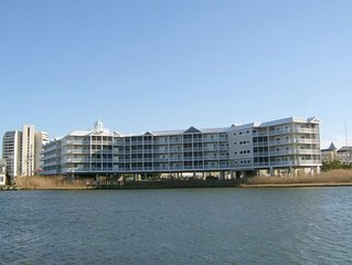 Beautifully furnished condo located bayside on 85th street with full kitchen an