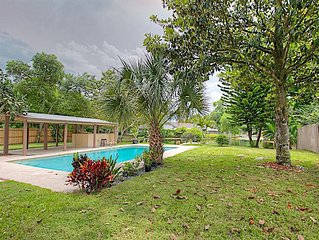 NEW! Charming 3BR With a Pool & Canal!