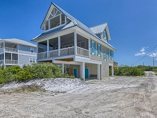 New 1st Tier Cottage w/ Elevator, Gulf Views, Great Boardwalk to Beach, Wifi
