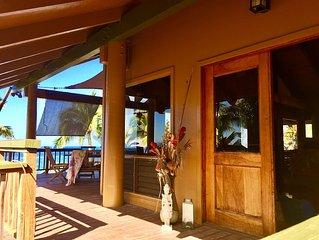 Traditional Hawaiian Pole House Nestled On 100 Ft Oceanfront Paradise!
