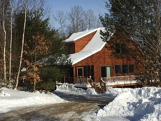 Charming log-sided home in Maine's most beautiful mountain village.