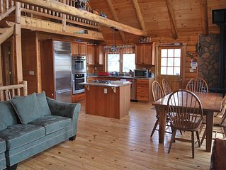 Lakefront Log Cabin Great for Families