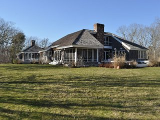 Prestine Water Front Home on Edgartown Great Pond with access to South Beach