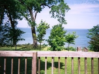 Beautiful beach front Luxury Home on Lake Michigan, sandy beach, pool, hot tub