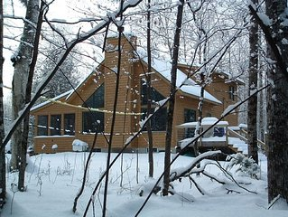 Beautiful Betsie River Cabin Minutes from Crystal Mtn. Resort & Spa (Sleeps 15)