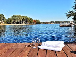 Go jump in the lake!  2800 sqft direct lake front with dock. 14 miles from TIEC