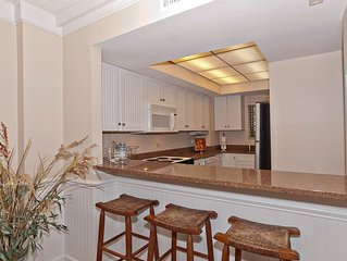 Renovated oceanfront condo with a resort atmosphere and amenities