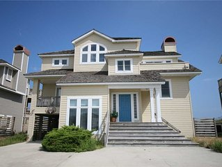 Dare To Dream: Oceanfront seven bedroom home with heated pool and game room wit