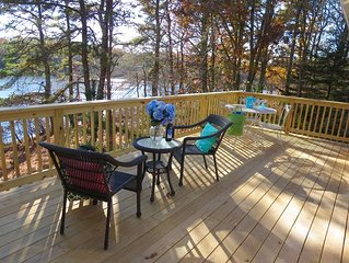 Enjoy your favorite beverage while taking in the view - 379 Oak Street Harwich Cape Cod New England Vacation Rentals