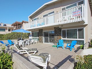 Steps to the Sand Large Private Patio With Beach View Lower Unit With Parking