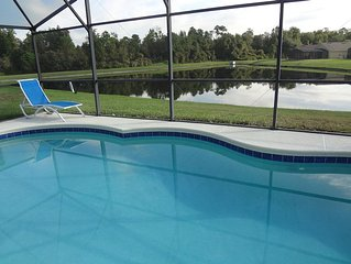 Modern 4BR/3B, Pond View, Oversized Pool, WiFi, BBQ - NEW Games Room