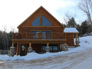 Brand New Log Home off the Sunday River access Rd, views, hot tub, game room