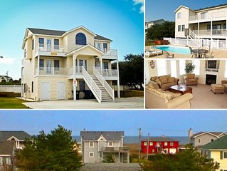 #1800 Queen BEEch. Pool, Hot Tub, Volleyball, Pets OK/Fenced Yard, Ocean View