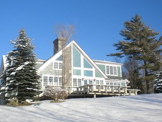 Custom 5 bedroom home with spectacular views of ski trails 2.7 miles to K1 lodge