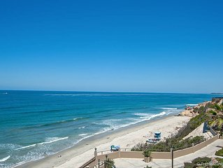 Remodeled, upgraded 3 bedroom, 2.5 bath in OCEANFRONT Del Mar Beach Club!