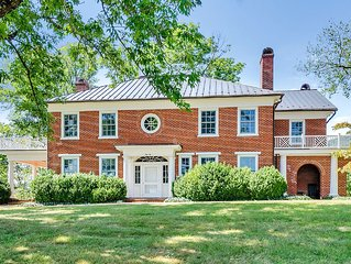 Blue Ridge views - Historical Manor Home with Carriage House on 180 acres