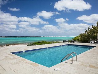 2BR-Thatch Hill: Private Oceanfront Villa with Sandy Beach, Private Pool