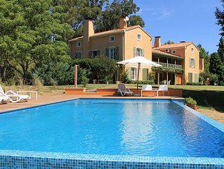 Splendid villa with private beach on the exclusive Laguna del Sause