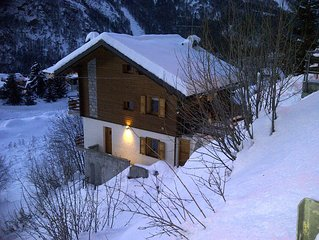 Chalet In The High Alps With Views Down The Valley