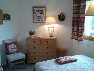 Appartement soigné 2 pièces +coin montagne pied des pistes Méribel Mottaret