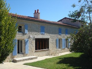 Beautiful renovated farmhouse with private heated pool.