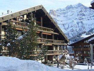 Appartement in Adelboden, rustig gelegen in het dorp met fraai uitzicht