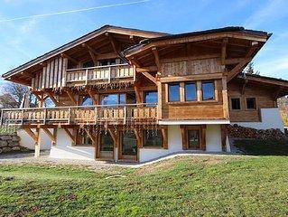 Chalet avec vue sur le Mont-Blanc, Jacuzzi, Sauna, Billard...