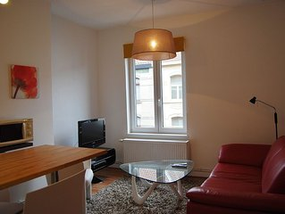 Furnished apartment Ghent with garage.