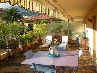 Roquebrune Cap Martin - 50 mt dal mare delizioso Studio con grande terrazza