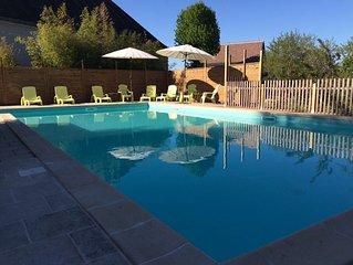 Maison de charme avec grande piscine chauffée