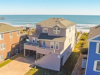 #1215 Serenity in Nags Head. Oceanfront, Pool, Hot Tub, Weddings/Events!