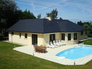 Villa de bord de mer avec piscine chauffée privée